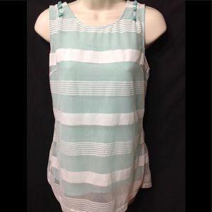 Women's size Medium ESLEY sheer overlay tank top